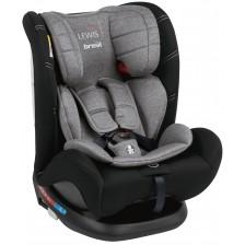 Столче за кола Brevi - Lewis, 0-36 kg, с IsoFix, Grey Melange -1