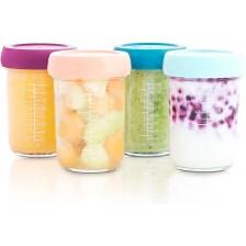 Стъклени купички за храна Babymoov - 4 броя, 220ml -1