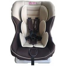 Столче за кола Bebino - Deluxe, 0-18 kg, brown and beige -1