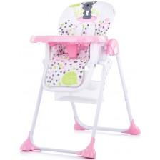 Столче за хранене Chipolino - Макси, розово