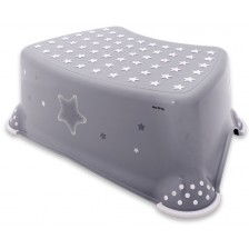 Стъпало за баня Lorelli Classic Stars - Сиво -1