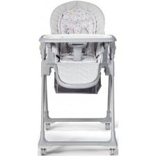 Столче за хранене KinderKraft Lastree сиво -1