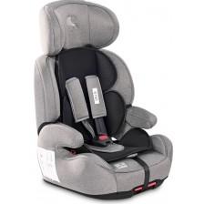 Столче за кола Lorelli - Iris IsоFix, Steel&Black, 9-36 kg -1