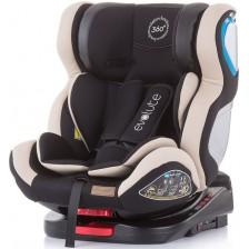 Столче за кола Chipolino - Evolute 360, 0-36 kg, с Isofix, ванилия -1