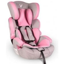 Столче за кола Cangaroo - Deluxe, 9-36 kg, розово -1