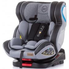 Столче за кола Chipolino - Evolute 360, 0-36 kg, с Isofix, мъгла -1