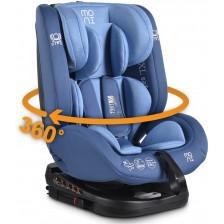Столче за кола Moni - Serengeti, 0-36 kg, с Isofix, синьо -1