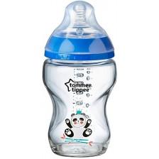 Стъклено шише Tommee Tippee - Closer to Nature, 250 ml, синьо -1