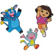 Стенна декорация Nickelodeon - Дора изследователката, 3 части -1