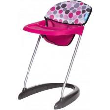Стол за хранене за кукли Hauck - Pink Dot -1