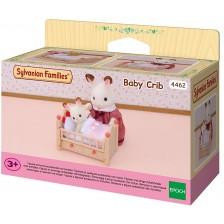 Фигурка за игра Sylvanian Families Furniture - Бебешко креватче -1