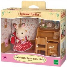 Комплект фигурки Sylvanian Families Furniture - Зайче, Chocolate -1