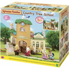 Комплект фигурки Sylvanian Families Baby & Child - Дървесно училище -1