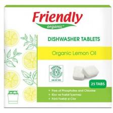 Таблетки за съдомиялна Friendly Organic - 25 броя, лимон -1