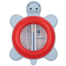 Термометър за вода Bebe Confort - Костенурка, червен -1