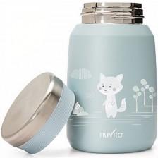 Термо кутия Nuvita - 500 ml, синя -1