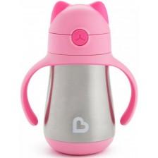 Термочаша Munchkin - Котка, 240 ml, розова -1