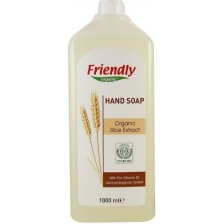 Течен сапун за ръце Friendly Organic - С екстракт от ориз, 1 l -1