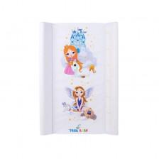 Подложка за повиване Tega Baby - Принцеса, Бяла -1