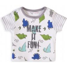 Тениска с принт Minoti Capsule, 0-3 месеца -1