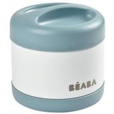 Термос за храна от неръждаема стомана Beaba, Baltic blue/White, 500 ml   -1