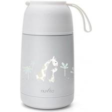 Термо контейнер за храна Nuvita - 620 ml, бял -1