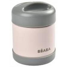 Термос за храна от неръждаема стомана Beaba, Dark mist/Light pink, 300 ml   -1