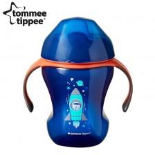 Неразливаща се чаша с мек накрайник Tommee Tippee, 230 ml, момче -1