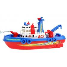 Детска играчка Toi Toys - Спасителна лодка, пръскаща вода -1