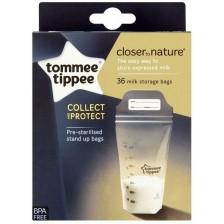 Комплект торбички за кърма Tommee Tippee - Closer to Nature, 350 ml, 36 броя -1
