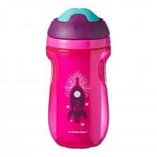 Tommee Tippee Неразливаща се термо чаша с твърд накрайник 12м+ 260мл. розова  TT.0139 -1