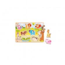 Tooky Toy Дървена образователна дъска с животни -1