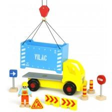 Дървена играчка Vilac - Камионче с аксесоари -1