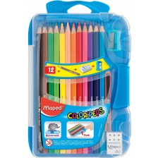 Цветни моливи Maped Color Peps - 12 цвята, синя кутия -1