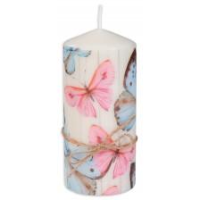 Цветна свещ - Пеперуди, 15 cm -1