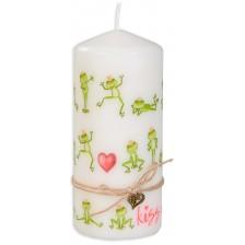 Цветна свещ - Жабки, 15 cm -1