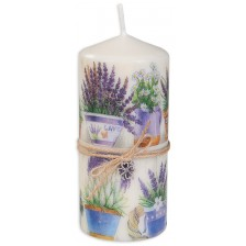Цветна свещ - Лавандули, 15 cm -1