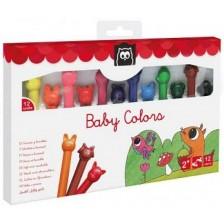 Цветни пастели Еurekakids - Baby Colors, 12 цвята -1