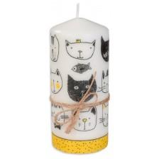 Цветна свещ - Котки, 15 cm -1