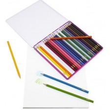 Цветни моливи Sense, 24 броя в метална кутия -1