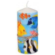 Цветна свещ - Морско дъно, 15 cm -1