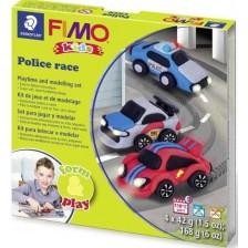 Творчески комплект Staedtler Fimo Kids - Направи си сам фигурки от глина, Police Race -1