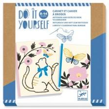 Творчески комплект Djeco Poetic Garden - Украса за тетрадка  -1