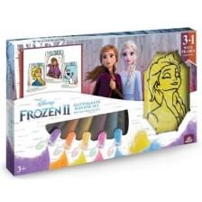 Творчески комплект за рисуване с пясък Red Castle - Frozen II -1