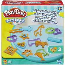 Творчески комплект Hasbro Play-Doh - Направи си цветни бисквитки -1