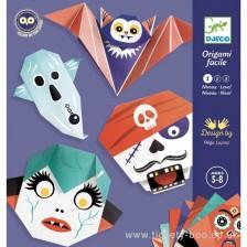 Творчески комплект Djeco - Направи си сам светещи оригами зомбита -1