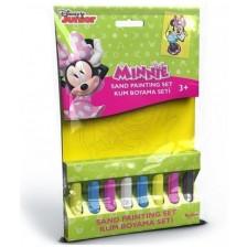Творчески комплект за оцветяване с пясък Red Castle - Minnie Mouse, с 1 картина -1