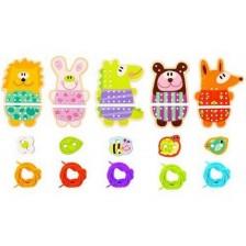 Творчески комплект за шиене Tooky Toy - Дървени животни -1
