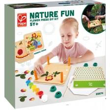Творчески комплект Hape Nature Fun - Нарисувай сам сухи цветя, 29 части -1