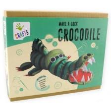Творчески комплект Andreu toys - Крокодил от чорапче -1